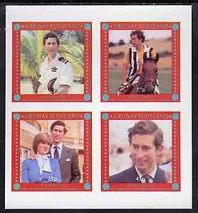 Grunay 1981 Royal Wedding imperf sheetlet containing set of 4 values unmounted mint