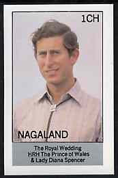 Nagaland 1981 Royal Wedding imperf souvenir sheet (1ch value) unmounted mint