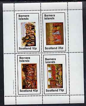 Bernera 1982 Medieval Life perf sheetlet containing set of 4 values unmounted mint