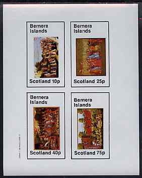 Bernera 1982 Medieval Life imperf sheetlet containing set of 4 values unmounted mint