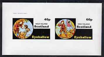 Eynhallow 1982 Fairy Tales (Robinson Crusoe) imperf set of 2 values unmounted mint