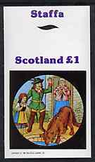 Staffa 1982 Fairy Tales (Little Red Riding Hood) imperf souvenir sheet (�1 value) unmounted mint