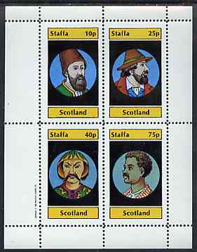 Staffa 1982 People of the World perf set of 4 values unmounted mint