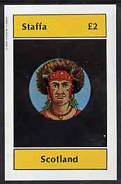Staffa 1982 People of the World imperf deluxe sheet (�2 value) unmounted mint, stamps on fashion, stamps on headdresses, stamps on costumes, stamps on cultures, stamps on hats