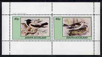 Staffa 1982 Birds #76 perf set of 2 values unmounted mint