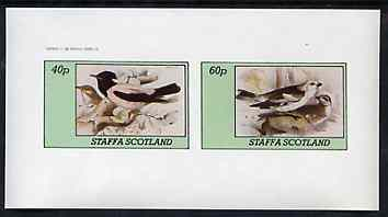 Staffa 1982 Birds #76 imperf set of 2 values unmounted mint