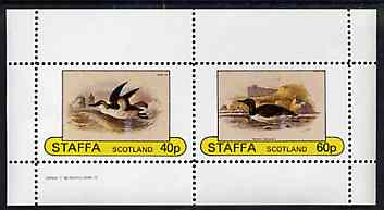 Staffa 1982 Birds #77 perf set of 2 values unmounted mint
