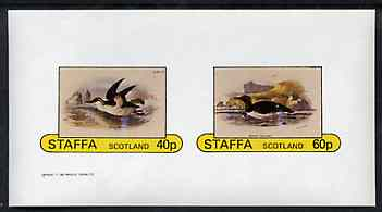 Staffa 1982 Birds #77 imperf set of 2 values unmounted mint