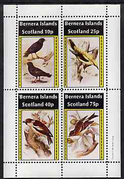 Bernera 1981 Birds #35 perf set of 4 values unmounted mint