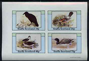 Staffa 1981 Birds #79 imperf set of 4 values unmounted mint