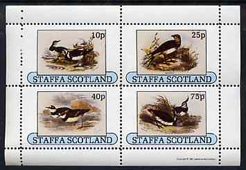 Staffa 1981 Birds #80 perf sheetlet containing set of 4 values unmounted mint