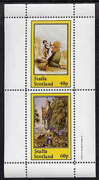 Staffa 1982 Pastoral Scenes perf sheetlet containing set of 2 values unmounted mint