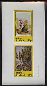 Staffa 1982 Pastoral Scenes imperf sheetlet containing set of 2 values unmounted mint