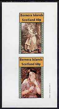 Bernera 1982 Women's Costumes imperf sheetlet containing set of 2 values unmounted mint