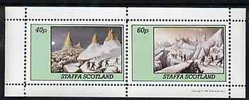 Staffa 1981 Mountaineering perf set of 2 values unmounted mint