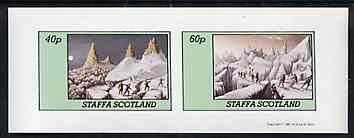 Staffa 1981 Mountaineering imperf set of 2 values unmounted mint