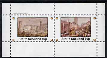 Staffa 1982 Palaces perf set of 2 values unmounted mint