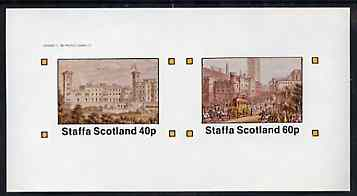 Staffa 1982 Palaces imperf set of 2 values unmounted mint