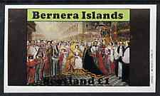 Bernera 1982 Life & Times of Queen Victoria (Coronation) imperf souvenir sheet (�1 value) unmounted mint