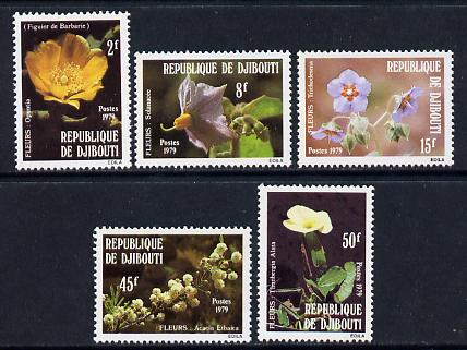 Djibouti 1979 Flowers set of 5 unmounted mint, SG 765-9