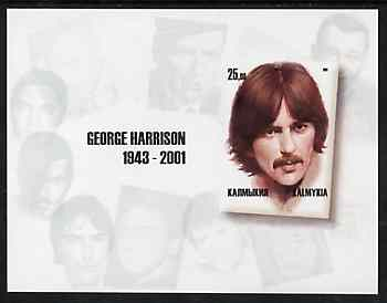 Kalmikia Republic 2001 George Harrison imperf m/sheet containing 25.00 value, unmounted mint