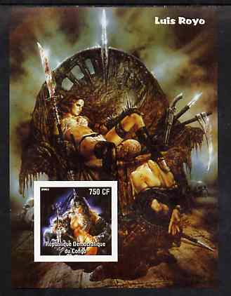 Congo 2003 Fantasy Paintings by Luis Royo imperf m/sheet unmounted mint