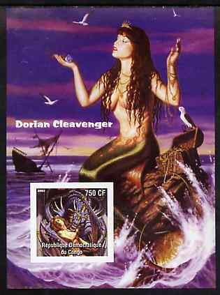 Congo 2003 Fantasy Paintings by Dorian Cleavenger #1 imperf m/sheet unmounted mint