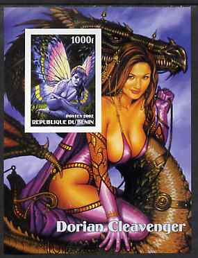Benin 2002 Fantasy Art by Dorian Cleavenger #1 (Pin-ups) imperf m/sheet unmounted mint