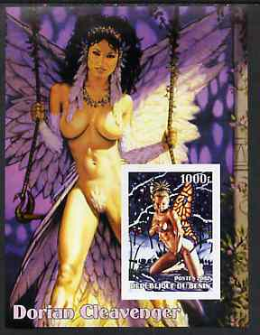 Benin 2002 Fantasy Art by Dorian Cleavenger #2 (Pin-ups) imperf m/sheet unmounted mint