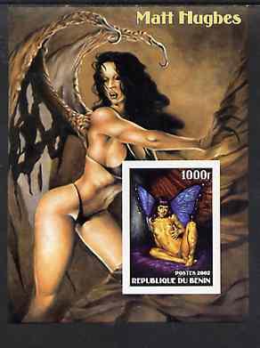 Benin 2002 Fantasy Art by Matt Hughes (Pin-ups) imperf m/sheet unmounted mint