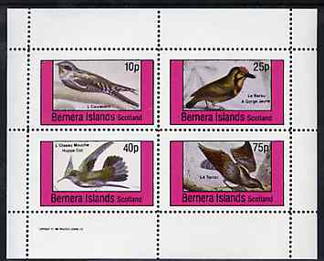 Bernera 1981 Birds #36 perf set of 4 values unmounted mint