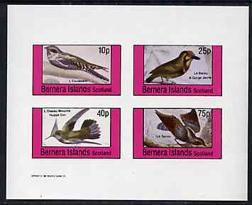 Bernera 1981 Birds #36 imperf set of 4 values unmounted mint