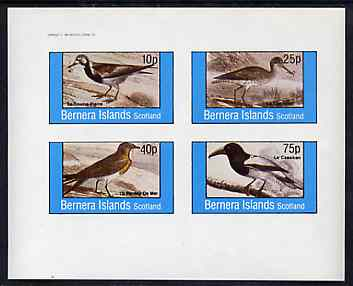 Bernera 1982 Birds #38 imperf set of 4 values unmounted mint
