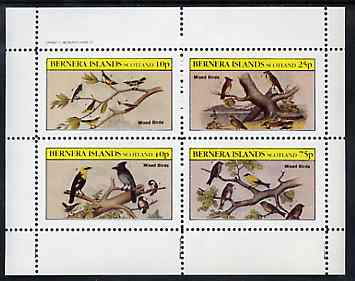Bernera 1982 Birds #40 perf set of 4 values unmounted mint