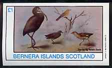 Bernera 1982 Birds #41 imperf souvenir sheet (�1 value) unmounted mint