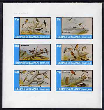 Bernera 1982 Birds #42 imperf set of 6 values unmounted mint