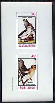 Bernera 1982 Birds #44 (Snow Bunting & Finch) imperf set of 2 values unmounted mint