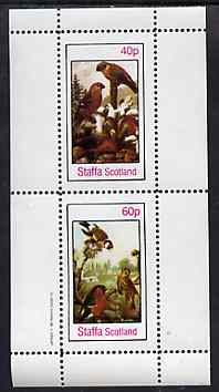 Staffa 1982 Birds #81 perf set of 2 values unmounted mint