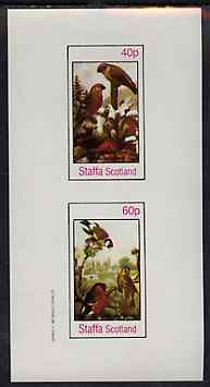 Staffa 1982 Birds #81 imperf set of 2 values unmounted mint