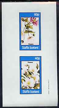 Staffa 1982 Flowers #54 imperf set of 2 values unmounted mint