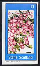 Staffa 1982 Flowers #54 imperf souvenir sheet (�1 value) unmounted mint