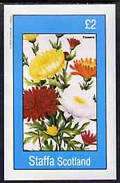 Staffa 1982 Flowers #54 imperf deluxe sheet (�2 value) unmounted mint