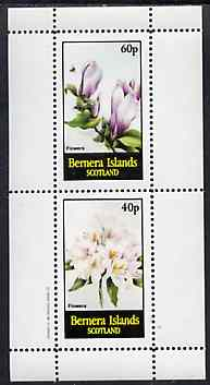 Bernera 1982 Flowers #24 perf set of 2 values unmounted mint