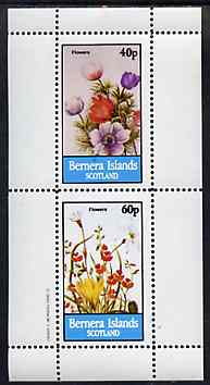 Bernera 1982 Flowers #25 (Anenomes, Crocus etc) perf set of 2 values unmounted mint