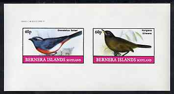 Bernera 1982 Birds #46 imperf set of 2 values unmounted mint