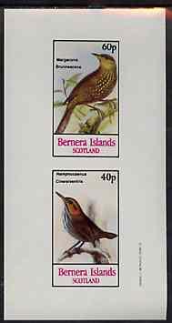 Bernera 1982 Birds #47 (Meadow Lark & Gnatwren) imperf set of 2 values unmounted mint