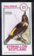 Eynhallow 1981 Birds #44 (Tanager) imperf souvenir sheet (�1 value) unmounted mint