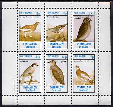 Eynhallow 1982 Birds #46 (Jay, Sandpiper, Auklet, etc) perf set of 6 values unmounted mint