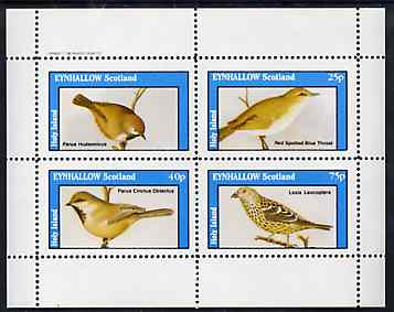 Eynhallow 1982 Birds #47 perf set of 4 values (value omitted from upper left stamp) unmounted mint