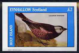 Eynhallow 1982 Birds #47 (Finch) imperf deluxe sheet (�2 value) unmounted mint
